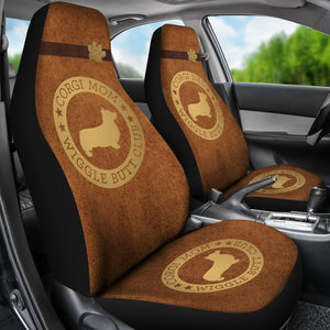 Corgi Mom & Dad Car Seat Covers