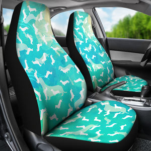 Dachshund Aqua Car Seat Covers