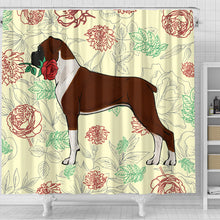 Boxer Rose Shower Curtain