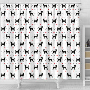 Chihuahua Love Shower Curtain