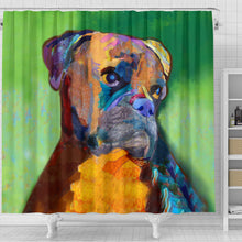 Boxer Face Portrait Shower Curtain