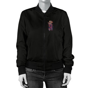Labrador Retriever Portrait Women's Bomber Jacket