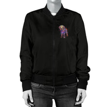 Golden Retriever Portrait Women's Bomber Jacket