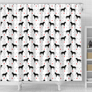 Labrador Retriever Love Shower Curtain