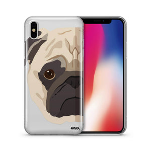 The Pug Case - Clear Phone Case Cover
