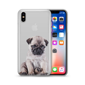 Baby Pug - Clear Phone Case Cover