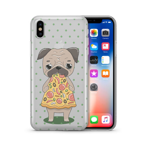 Pizza Pug - Clear Phone Case Cover