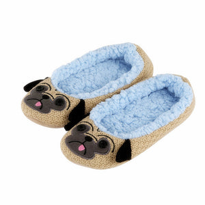 Pug Plush Women's Slippers