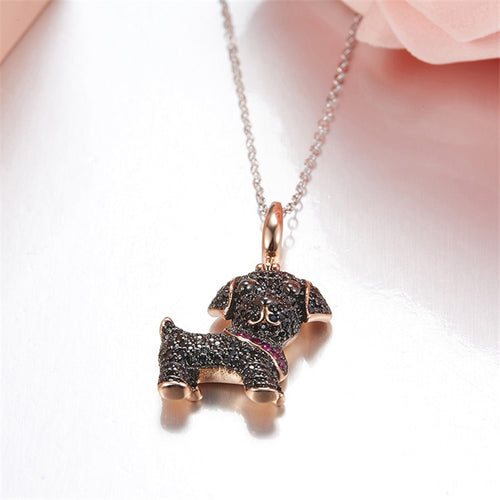 925 Sterling Silver Black Lab Necklace