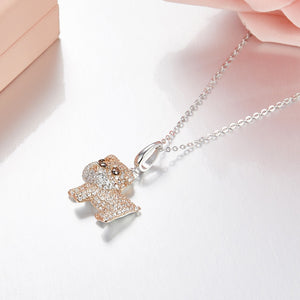 925 Sterling Silver Bulldog Pendant Necklace