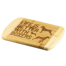 Life is Better With Boxers Round Wood Cutting Board