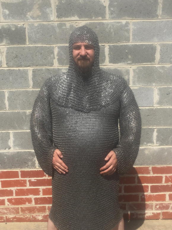 Riveted Chain Mail Hauberks