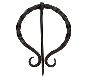 Twisted forged steel cloak pin
