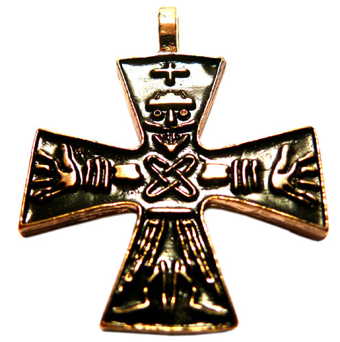 ODINS CROSS 24ct gold plated pendant