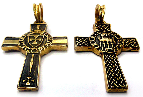 ORDO DE TEMPLO  24ct gold plated pendant