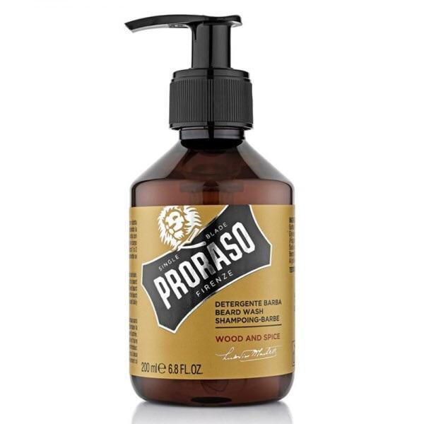 Proraso Beard Wash Wood & Spice 200ml-The Pomade Shop