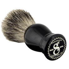 Load image into Gallery viewer, Suavecito Black Resin Shave Brush-The Pomade Shop