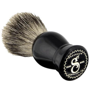 Suavecito Black Resin Shave Brush-The Pomade Shop