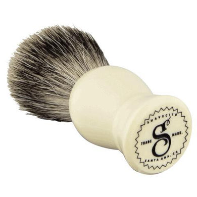 Suavecito Ivory Resin Shave Brush-The Pomade Shop