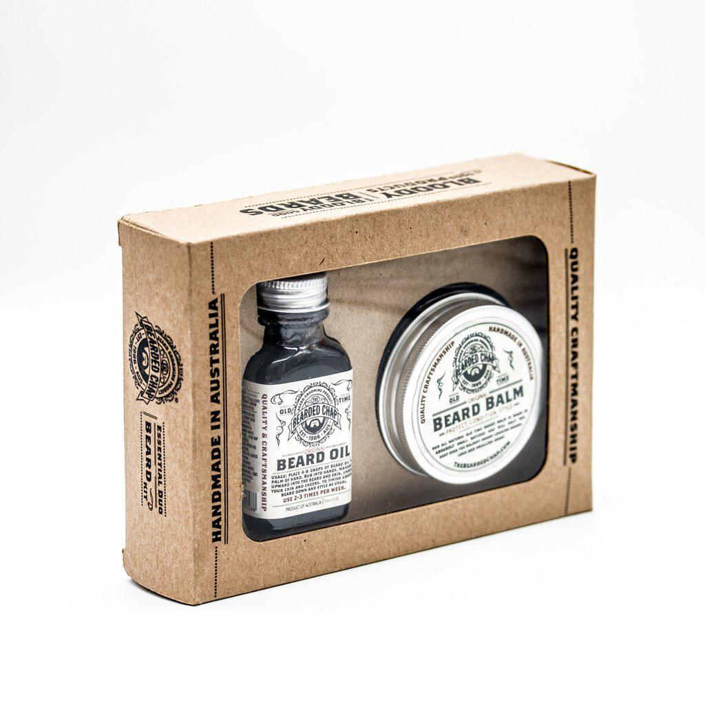 THE BEARDED CHAP ESSENTIAL DUO BEARD KIT-The Pomade Shop
