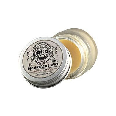 THE BEARDED CHAP OLD TIME SOFT/MEDIUM HOLD MOUSTACHE WAX-The Pomade Shop