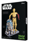 3D metalna maketa - STAR WARS Set robot C-3PO + R2D2
