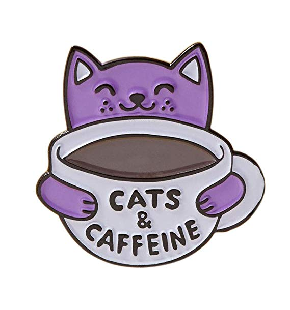 Cats and Caffeine Enamel Pin