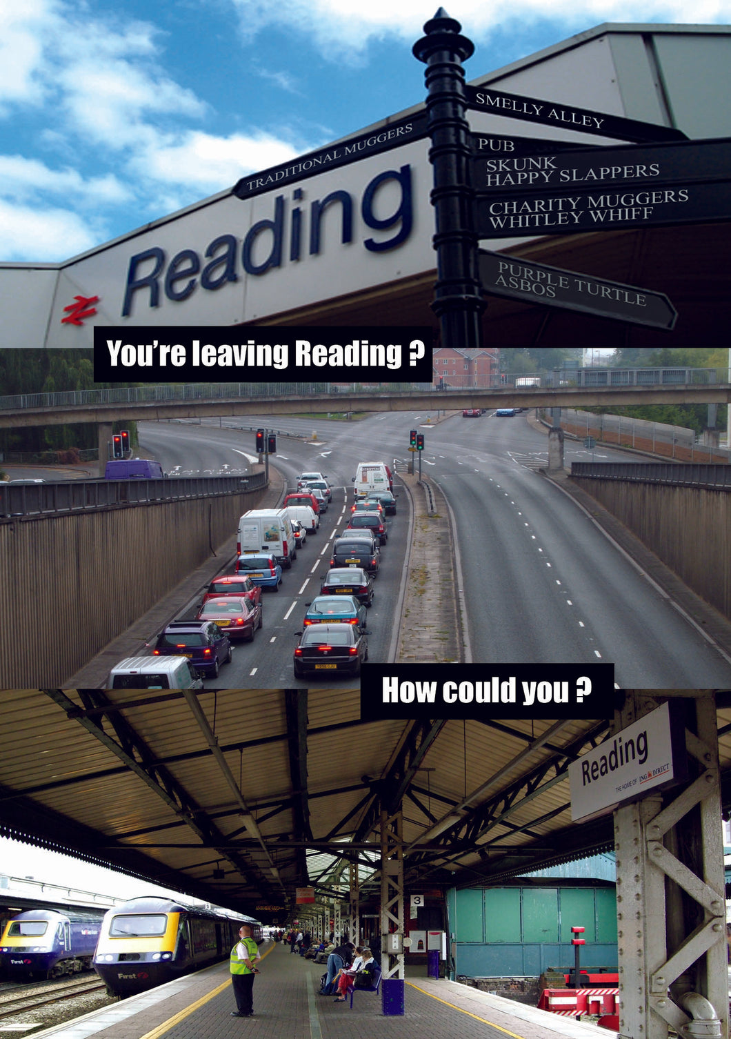 Leaving Reading Greetings Card