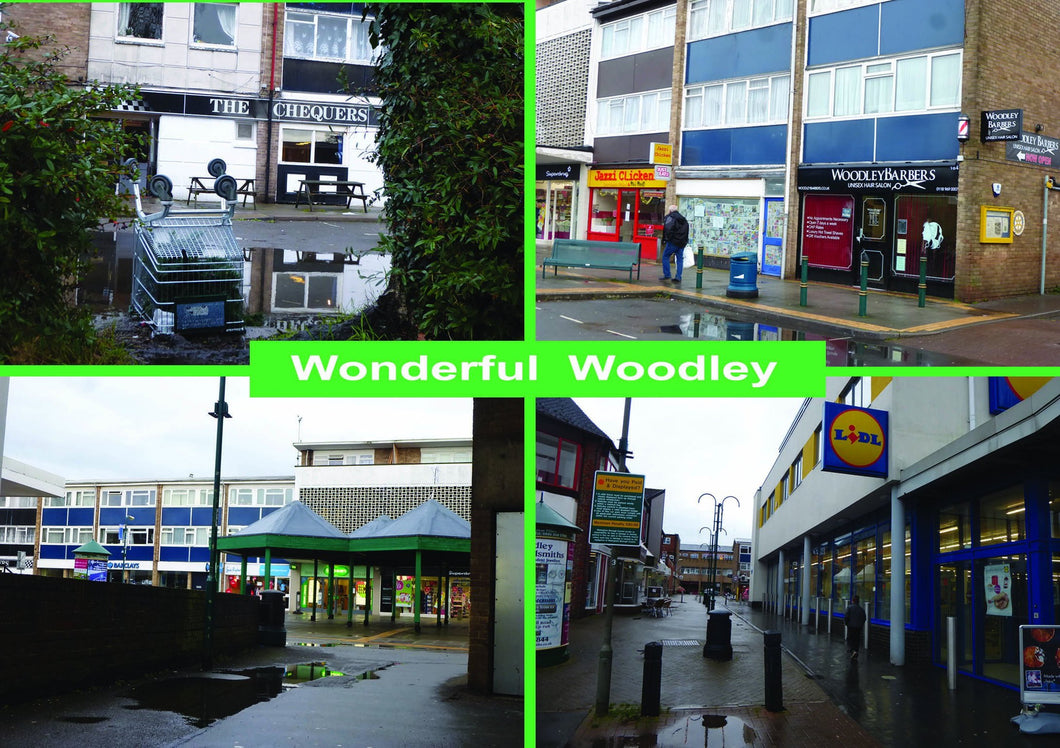 Wonderful Woodley Reading Greetings Card
