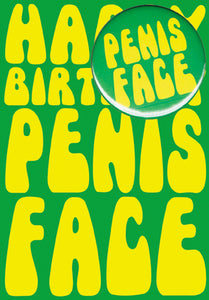 Happy Birthday Penis Face Card