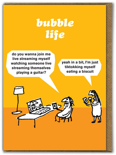 Bubble Life Card