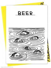 David Shrigley Beer Swimmers Card
