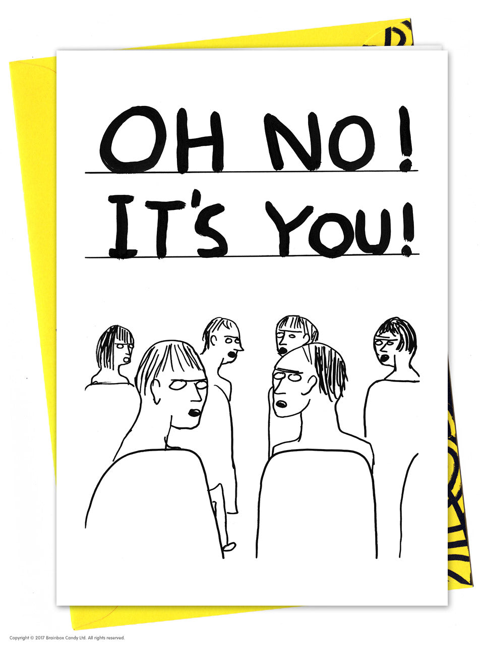 David Shrigley Oh No! It's You! Card