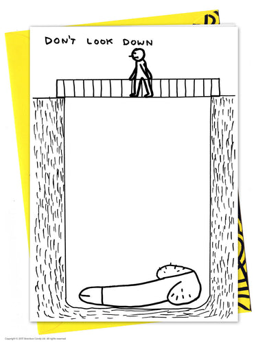 David Shrigley Don't Look Down Card