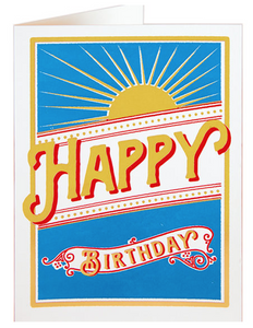 Archivist- Birthday Rays Greetings Card