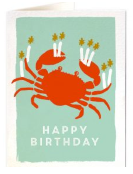 Archivist- Birthday Crab Greetings Card