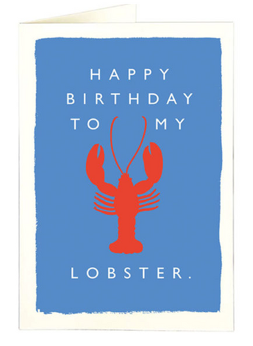 Archivist- Birthday Lobster Greetings Card