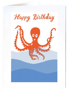 Archivist- Birthday Octopus Greetings Card