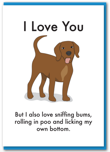 Objectables - Love You Dog Card