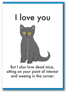 Objectables - Love You Cat Card