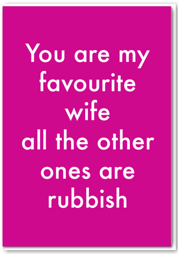 Objectables - Favourite Wife Card