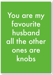 Objectables - Favourite Husband Card