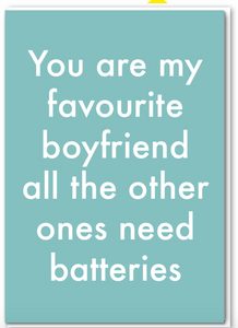 Objectables - Favourite Boyfriend Card