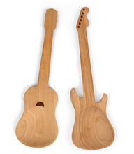 Beech Wood Rockin Guitar Salad Servers