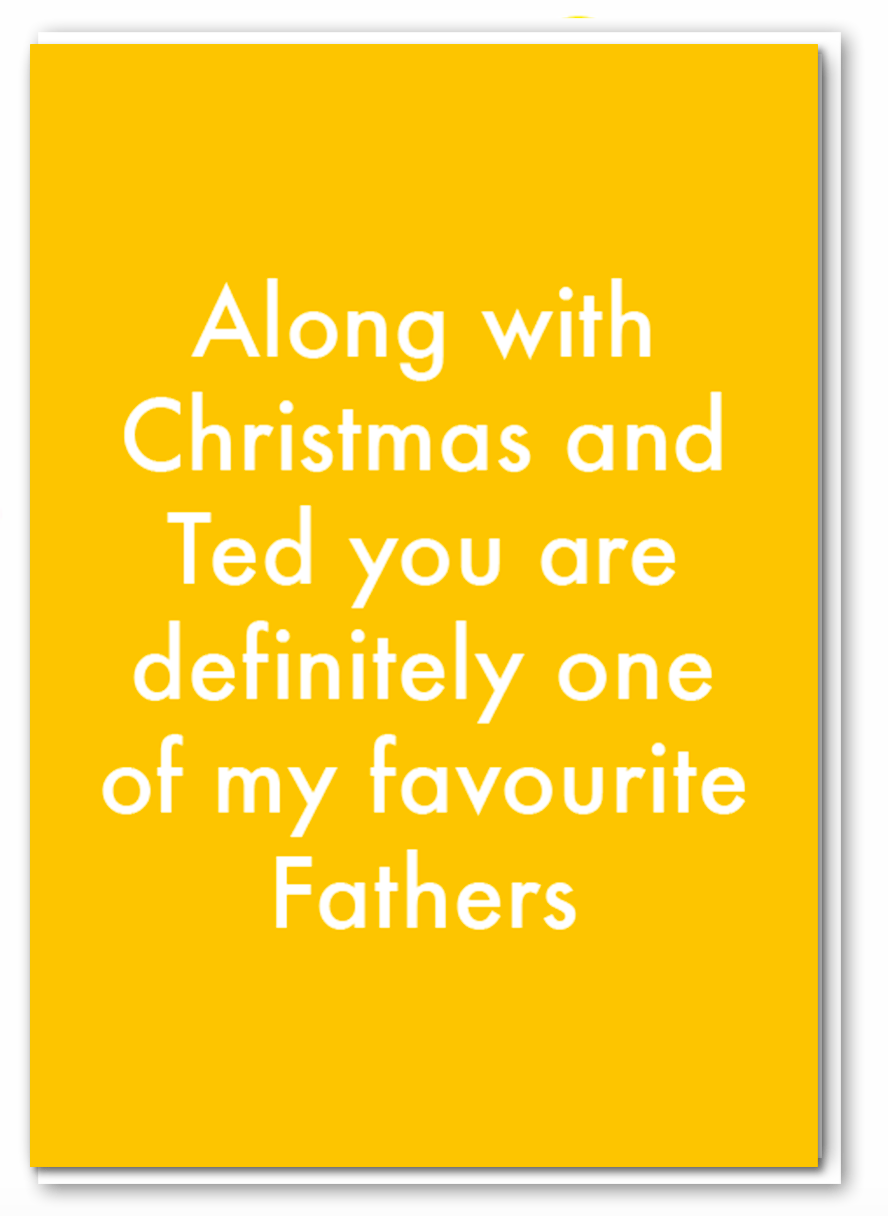 Objectables - Favourite Fathers Card