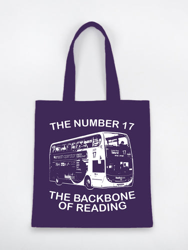 Reading's Number 17 Bus Tote Bag