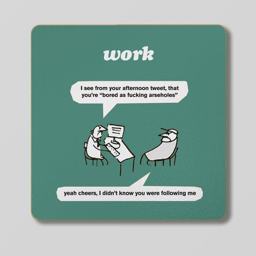 Afternoon Tweet Coaster