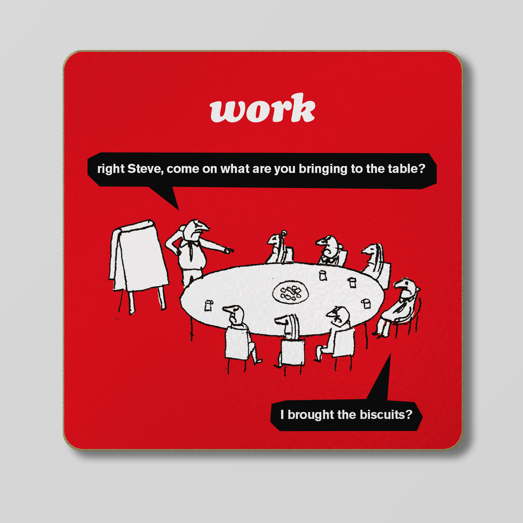 Modern Toss - Work Biscuits Coaster