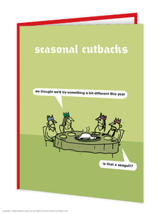 Seasonal Cutbacks Christmas Card