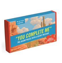 """You Complete Me"". Jigsaw puzzle with a hidden message."